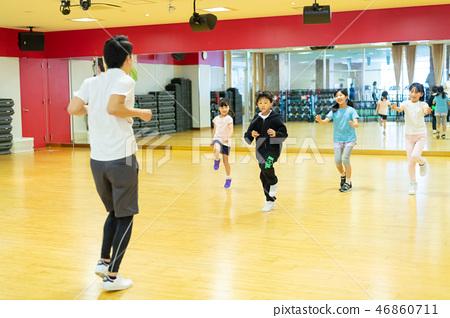 舞蹈學校體育俱樂部兒童教室圖像 46860711