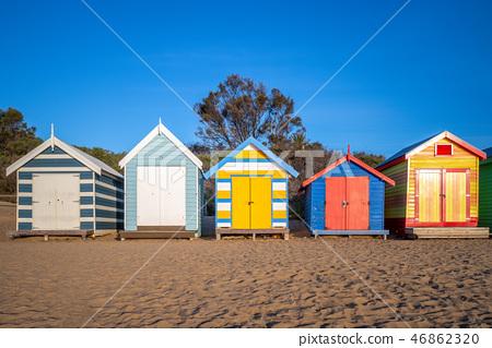 Brighton Bathing Boxes in Melbourne, Australia 46862320