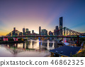 brisbane with story bridge in australia at dusk 46862325