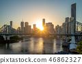 brisbane with story bridge in australia at dusk 46862327