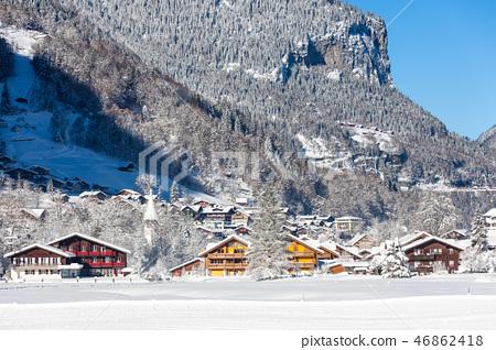 Snow and Villages in Switzerland 46862418