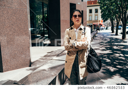 office lady arms crossing go to work in morning 46862583