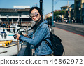 woman sightseeing happy on pier 39 46862972