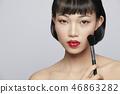 女性美容系列颜色背部化妆 46863282