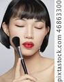 女性美容系列顏色背部化妝 46863300
