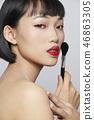女性美容系列顏色背部化妝 46863305
