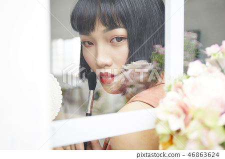 女人美容圖像化妝 46863624