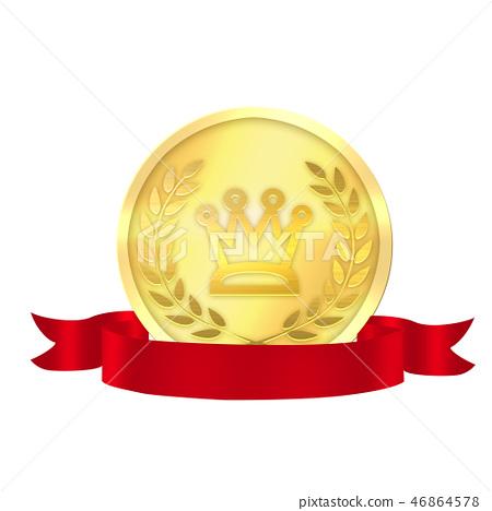 勞雷爾獎獲得者金牌獎章 46864578