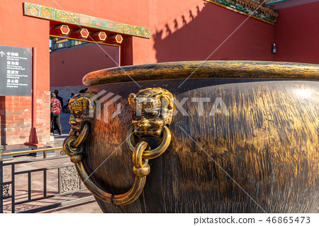 紫禁城故宮博物院 中国北京観光スポット Forbidden City 世界五大博物館 門海 銅缸 46865473