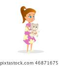 child, girl, holding 46871675