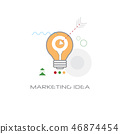 light lamp icon new creative business marketing idea concept line style isolated 46874454