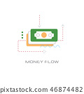 business investment banknote icon money flow concept line style isolated 46874482