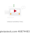 digital business video marketing strategy concept line style isolated 46874483