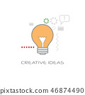 light lamp new idea startup project innovation creative ideas concept line style isolated 46874490