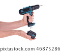Cordless screwdriver or power drill isolated 46875286