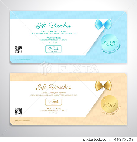 Gift certificate, voucher, coupon template 46875905