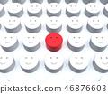 CG 3D 일러스트 입체 디자인 아이콘 표시 인 불만 소수 얼굴 조직 내 평화 일본 46876603