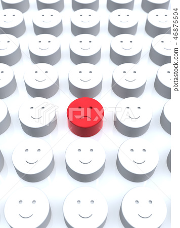 CG 3D 일러스트 입체 디자인 아이콘 표시 인 불만 소수 얼굴 조직 내 평화 일본 46876604