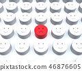 CG 3D 일러스트 입체 디자인 아이콘 표시 인 불만 소수 얼굴 조직 내 평화 일본 46876605