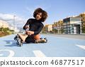 woman, female, rollerskating 46877517