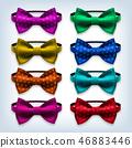bow, tie, ribbon 46883446