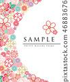 japanese pattern flower 46883676