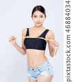 Beautiful asian woman diet and slim 46884034