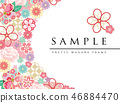japanese pattern flower 46884470