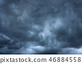Dark cloud storm in summer 46884558