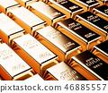 Render of gold bars background 46885557