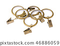 Metal rings and curtain clamps 46886059