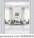 Luxury living room interior background 46886868