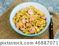 Stewed cabbage with sausages 46887071