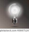 灯泡 球茎 灯 46887526
