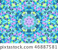 Bright background with mosaic pattern 46887581