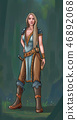 Concept Art Fantasy Illustration of Beautiful Young Woman Warrior 46892068