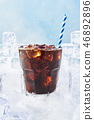 Summer drink iced coffee or soda in a glass 46892896