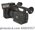 Television camera, professional video camera 46893057