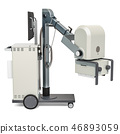 Mobile x-ray machine, 3D rendering 46893059