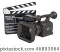 Cinema concept. Professional video camera 46893064