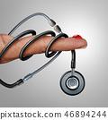 糖尿病 验血 听诊器 46894244