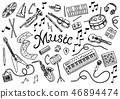 music, vector, musical 46894474