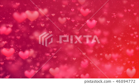 Valentines background, flying abstract hearts 46894772