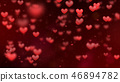 Valentines background, flying abstract hearts 46894782