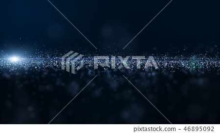 Abstract blue color digital particles wave 46895092
