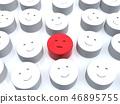 CG 3D 일러스트 입체 디자인 아이콘 표시 인 불만 소수 얼굴 조직 내 평화 일본 46895755