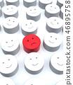 CG 3D 일러스트 입체 디자인 아이콘 표시 인 불만 소수 얼굴 조직 내 평화 일본 46895758
