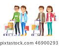Consuming goods for a revolving economy.  46900293