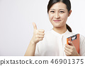女商人颜色后面手标志 46901375