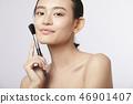 女性美容系列颜色背部化妆 46901407